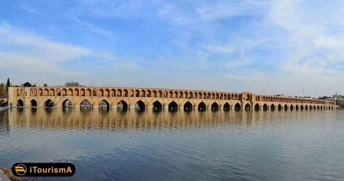 سی وسه پل یا پل الله وردی خان یکی از پل های تاریخی استان اصفهان یادگار دوران صفویه