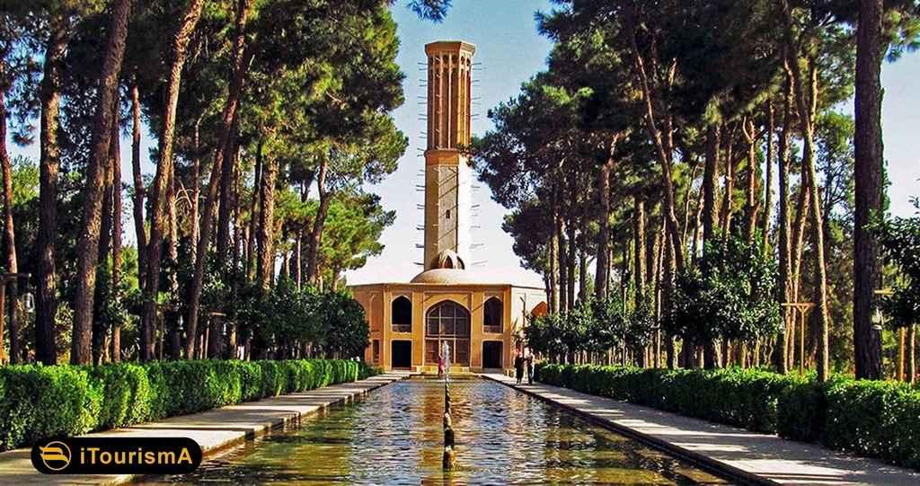 باغ دولت آباد دارای بلندترین بادگیر خشتی جهان