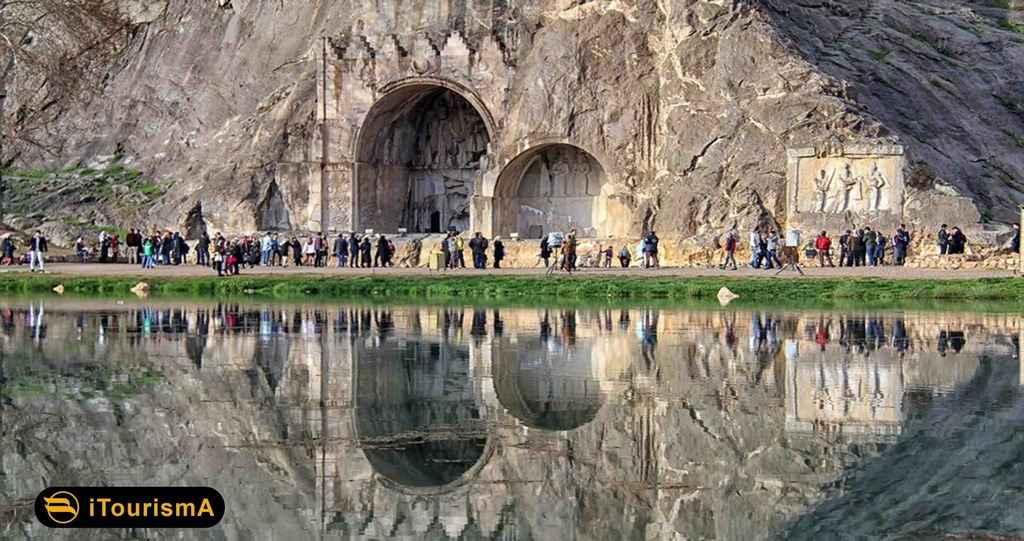 مجموعه طاق بستان یکی از بی نظریر ترین آثار تاریخی ایران و جهان
