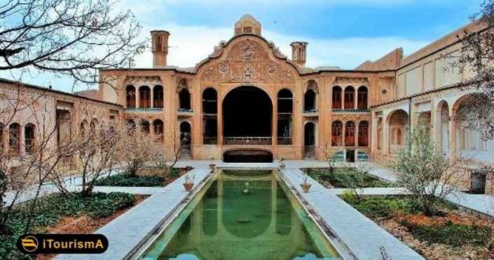 خانه بروجردیها از آثار تاریخی شهر کاشان