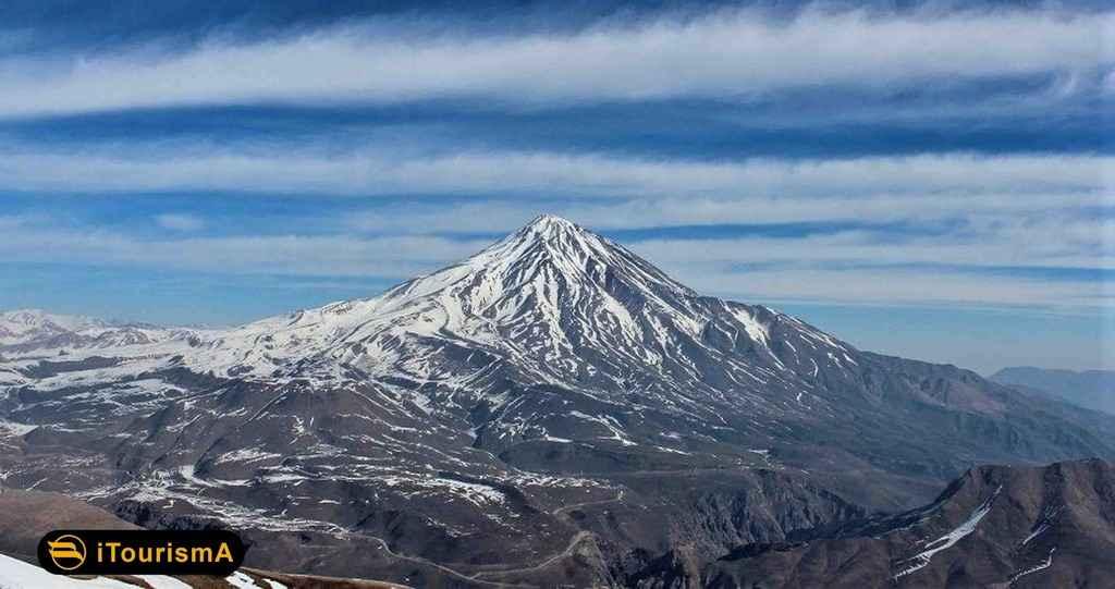 کوه دماوند بلندترین کوه ایران