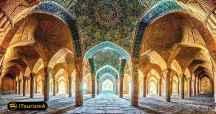 مسجد وکیل بنایی ویژه با معماری و تزئینات شگفت انگیز در شهر شیراز